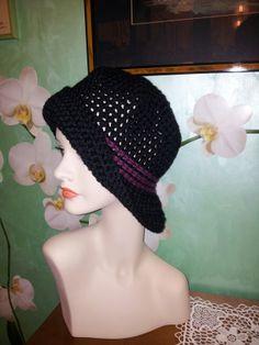 Cappello uncinetto in lana merino