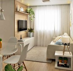 How To Use A Living Room Sofa For Maximum Space Utilization? Tiny Living Rooms, Small Apartment Living, Home Living Room, Condo Interior, Interior Design Living Room, Living Room Designs, Studio Apartment Decorating, Apartment Design, Small Room Design