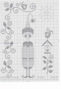 Another elf for Christmas. Consider using button for this and the last pattern. Cross Stitch Fairy, Xmas Cross Stitch, Cross Stitch Christmas Ornaments, Cross Stitch Kitchen, Just Cross Stitch, Simple Cross Stitch, Cross Stitch Charts, Cross Stitching, Cross Stitch Embroidery