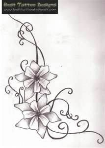 Flower Tattoos - add one more flower...one for each kidestados unidos