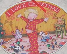 Mary Engelbreit Christmas Ornament Love Child Red