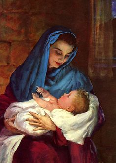 Mary and baby Jesus - no artist listed