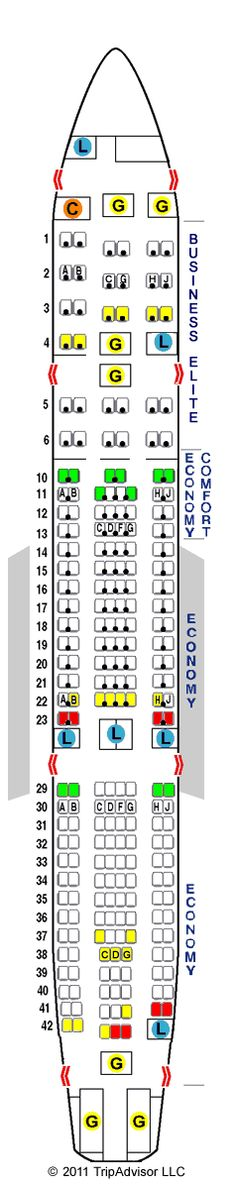 Seat Guru - annotated seating chart for all airlines.  Look before you buy that ticket!
