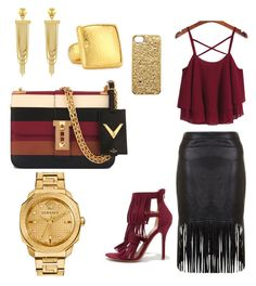 """""""He said keep it sexy, I said simple"""" by queencryss on Polyvore featuring Wild Diva, Vince Camuto, Valentino, Marc by Marc Jacobs, Gurhan and Versace"""