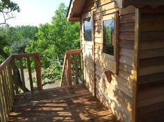 Uitzicht vanuit de boomhut! Provence-Alpen-Côte d Azur, Vaucluse, St. Saturnin d'Apt #Frankrijk #France #Boomhut #Treehouse #Provence #Vakantie #Vakantiehuizen #Vaucluse #kinderen