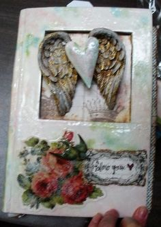 shabby chic altered book by Girlfriends