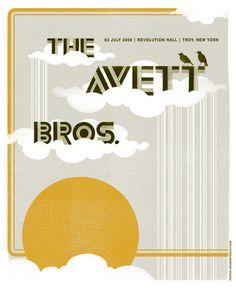 The Avett Brothers Print 07/03/08 - Troy, NY