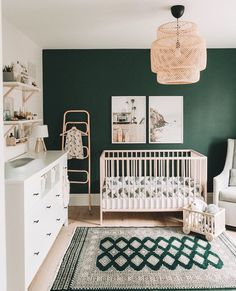 "littlemissdessa®? on Instagram: ""We are obsessed with this gorgeous nursery + all things hunter green!????: @aagrbic  #nurseryinspo #nursery #nurserydecor #nurserydesign…"""