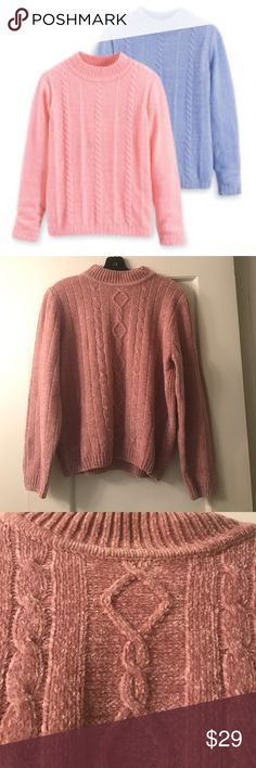 Alfred Dunner chenille sweater 100% acrylic. Super soft Alfred Dunner Sweaters Crew & Scoop Necks