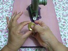 PAP - Como Forrar botões - D'Ana Crafts / Tecidos e Crafts