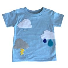 Clouds Are Everywhere! - Toddler Baby Blue Shirt – Boys or Girls by micielomicielo on Etsy