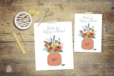 "Say thanks to your teachers with this, ""Thanks for Helping us Bloom"" printable!"