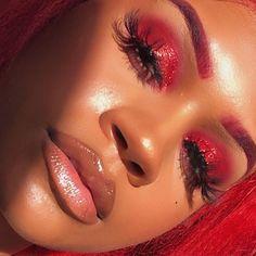 Love this red eye makeup look Eye Makeup, Makeup On Fleek, Flawless Makeup, Glam Makeup, Gorgeous Makeup, Pretty Makeup, Makeup Inspo, Makeup Inspiration, Beauty Makeup