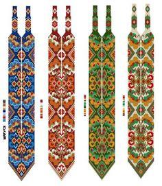 бисеринка схеми ГЕРДАН и ЖГУТОВ traditional beading patterns Ukrainian