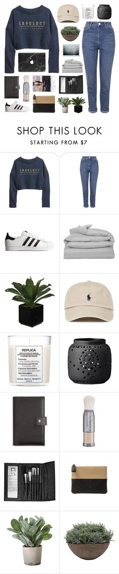 """""""i see quite nights poured over ice and tanqueray"""" by ruthaudreyk ❤ liked on Polyvore featuring H&M, Topshop, adidas Originals, GANT, Maison Margiela, Shinola, Colorescience, Sephora Collection, Toss and Torre & Tagus"""