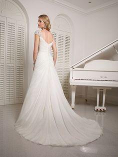 Victoria Jane for Ronald Joyce chiffon wedding dress.