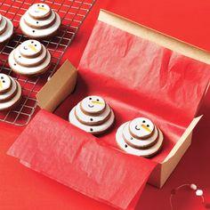 Flat snowman cookies...