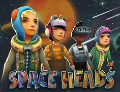 Poster from our F2P game Space Heads (www.spaceheads.net)