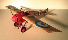 Morane-Saulnier Type N Monoplane Fighter Free Aircraft Paper Model Download