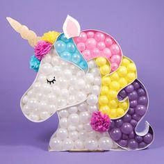 Children's Party Balloons - By Bubblegum Balloons Diy Unicorn, Unicorn Balloon, Unicorn Gifts, Cute Unicorn, Rainbow Unicorn, Party Decoration, Balloon Decorations, Birthday Diy, Unicorn Birthday Parties