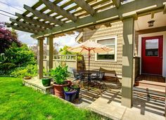 Transform your outdoor space with a gorgeous pergola from Texas Patio Covers. Our pergolas frame and add value to any backyard patio. Backyard Ideas For Small Yards, Big Backyard, Small Backyard Gardens, Small Backyard Landscaping, Backyard Pergola, Pergola Shade, Diy Patio, Pergola Ideas, Patio Roof
