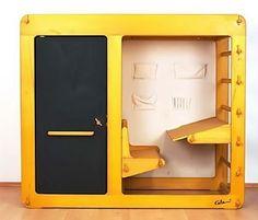 Space age design loft bed/desk for kids (1975)