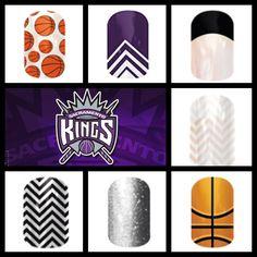 Sacramento Kings King Nails, Sacramento Kings, Jamberry Nail Wraps, Style, Swag, Outfits