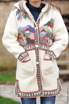 Верхняя одежда ручной работы. Ярмарка Мастеров - ручная работа Вязаное пальто W17. Handmade.
