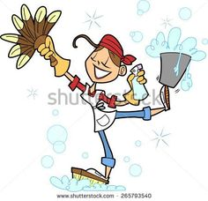 Cartoon Cleaning Lady Clipart LAUNDRY AND CLEANING TIME