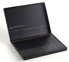 Black box of colored pencils from Japan _