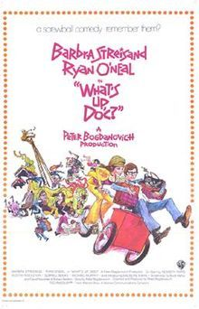 What's Up, Doc? is a 1972 screwball comedy film released by Warner Bros., directed by Peter Bogdanovich and starring Barbra Streisand, Ryan O'Neal, and Madeline Kahn (in her first full-length film role, which was also her first Golden Globe-nominated role). It was intended to pay homage to comedy films of the 1930s, especially Bringing Up Baby,[2] as well as old Bugs Bunny cartoons (another WB product).