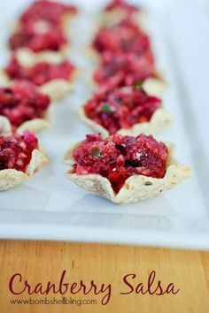 Easy - Savory - Cranberry Salsa