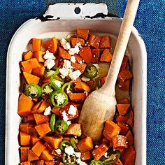 Mexican sweet potatoes with jalapenos and cinnamon.