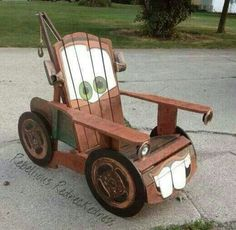 Mater made out of old wood chair
