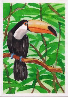#ilustração #illustration #aquarela #watercolor #tucano #toucan