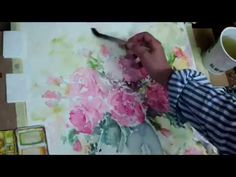 Hedwig's Art Pot of flowers, watercolor - YouTube