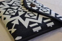 """Wool Macbook AIR Laptop Cover 13"""" case sleeve - black and white native american print WOOL from Oregon on Etsy, $70.00"""