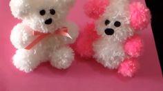 DIY Craft pom pom teddy bear