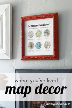 """Bring your home to life with """"The Places You've Lived Map Decor""""! Find out how to highlight all of the places you've lived in one decorative piece!"""
