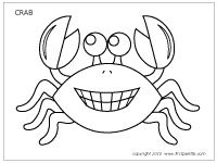 Download black and white crab template