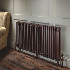 Ancona with Cast Feet The Ancona with cast feet is also supplied with wall ties and the overall design is one of classic elegance; this model is the perfect alternative to a cast iron radiator. Please specify cast feet when you place your order. Old Radiators, Column Radiators, Cast Iron Radiators, Mirror Radiator, Radiator Cover, Kitchen Radiator, Black Cladding, Hallway Designs, Home Decor