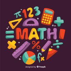 Cartoon Math Concept Background
