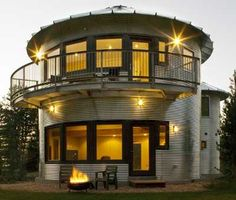 grain silo home