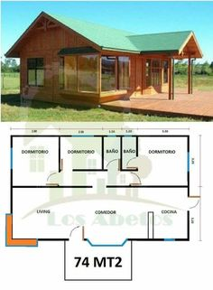 House plans architecture layout Ideas - My ideas House In The Woods, My House, Bungalow, Cottage Plan, Small House Plans, Shed Plans, Little Houses, Simple House, Future House