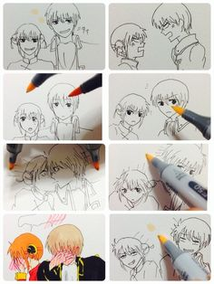 Uploaded by Find images and videos about draw, gintama and okita sougo on We Heart It - the app to get lost in what you love. Cute Anime Guys, Cute Anime Couples, Awesome Anime, Manga Kawaii, Manga Anime, Anime Art, Anime Comics, Anime Triste, Naruto Y Boruto