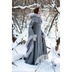 Exclusive fantasy fashion design coat Heretrix of the Winter ::... ❤ liked on Polyvore
