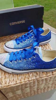 650f4ed28b83 Customized OMBRE Crystal Converse Chuck Taylor All Star Low Top Shoes - All  Sizes and Colors