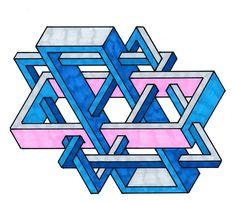 #geometry #isometric #penrose #escher #oscareutersvärd #impossible #mathart #regolo54