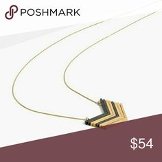"""Madewell arrowstack necklace edge to even the simplest of looks.    To adjust the necklace, gently grasp the barrels and slowly slide them along the chain. Length: 30"""". Adjustable sliding closure. Brass. Madewell Jewelry Necklaces"""