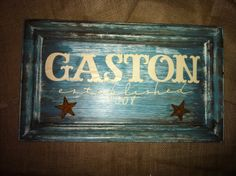 Last Name Shabby Chic Sign Western Sign Rustic Cross by AshAndAly, $40.00